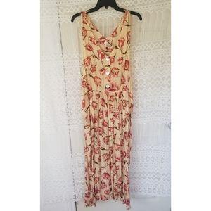 Express Vintage Floral Print Oversized Maxi Dress